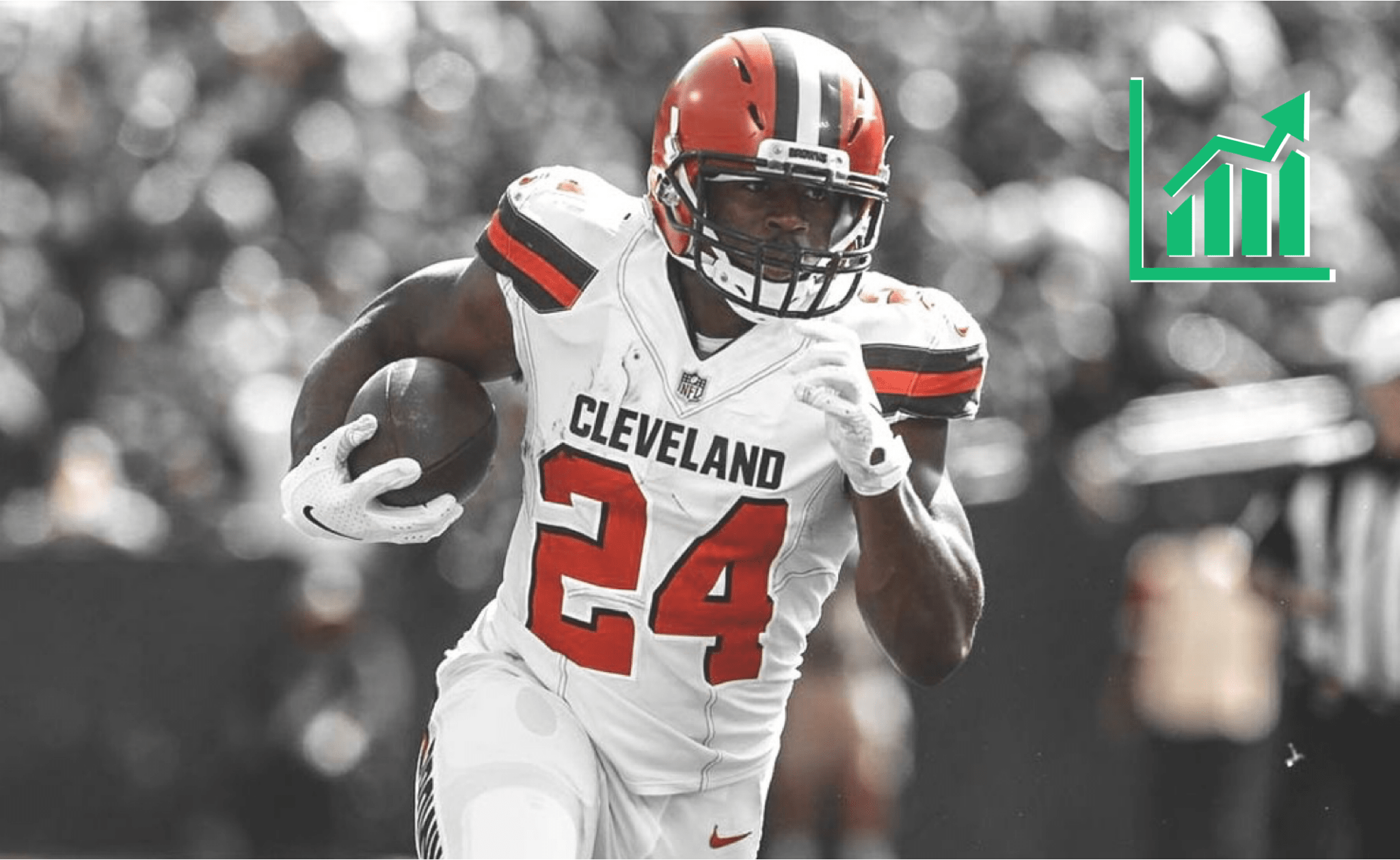 newest 98d1f 097de Nick Chubb's Fantasy Stock Shoots to the Moon After Carlos ...