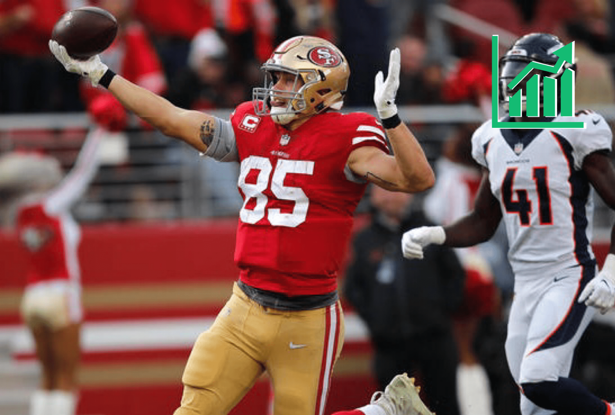 George Kittle Explodes For 210 Yards Asserts Himself Among